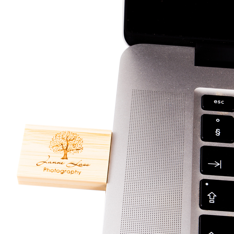 Wooden Cube Flash Drive